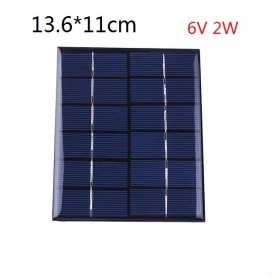 Cewaal DIY Mini Solar Panel Smartphone Powerbank 2W - CW5 - Black - 2