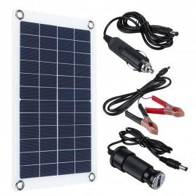 Cewaal DIY Solar Panel RV Car Boat 30W - CW6 - Black - 1