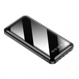 WST Power Bank 1 Port USB 20000mAh with Micro + Lightning + USB Type C Cable - P2 - Black