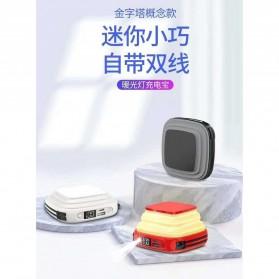 Pibox Powerbank Display LED Built-in USB Type C + Lightning 10000mAh - PG03 - Gray - 3