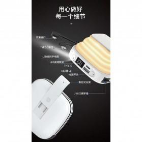 Pibox Powerbank Display LED Built-in USB Type C + Lightning 10000mAh - PG03 - Gray - 4