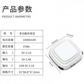Pibox Powerbank Display LED Built-in USB Type C + Lightning 10000mAh - PG03 - Gray - 7