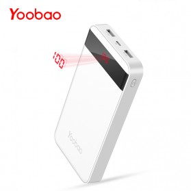 Powerbank - Yoobao Power Bank Lightning+Micro USB Input 20000mAh - S20Q - White