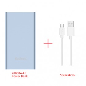 Yoobao Power Bank Lightning+Micro USB Input 20000mAh - A2 - Blue