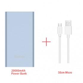 Baterai & Charger - Yoobao Power Bank Lightning+Micro USB Input 20000mAh - A2 - Blue