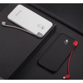 Yoobao Power Bank Built-in Micro USB Cable 10000mAh - SHARE1000 - Black - 5