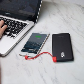 Yoobao Power Bank Built-in Micro USB Cable 10000mAh - SHARE1000 - Black - 10