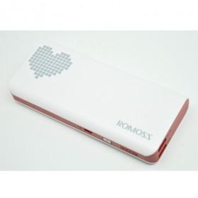 Romoss Sense 4 Power Bank 10000mAh (Replika 1:1) - White/Red - 2