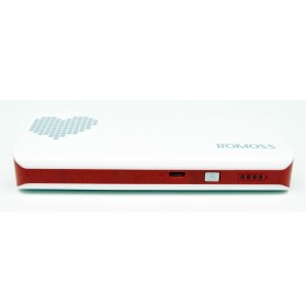Romoss Sense 4 Power Bank 10000mAh (Replika 1:1) - White/Red - 4