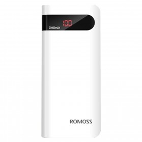 Romoss Sense 6P Power Bank 20000mAh dengan LCD Display 5V 2.1A (Replika 1:1) - White