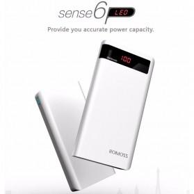 Romoss Sense 6P Power Bank 20000mAh dengan LCD Display 5V 2.1A (Replika 1:1) - White - 3