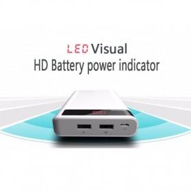 Romoss Sense 6P Power Bank 20000mAh dengan LCD Display 5V 2.1A (Replika 1:1) - White - 4