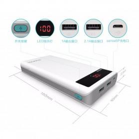 Romoss Sense 6P Power Bank 20000mAh dengan LCD Display 5V 2.1A (Replika 1:1) - White - 6
