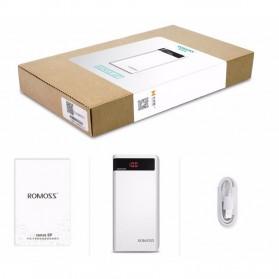 Romoss Sense 6P Power Bank 20000mAh dengan LCD Display 5V 2.1A (Replika 1:1) - White - 9