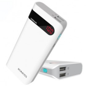 Romoss Sense 4P Power Bank 10400mAh with LCD Display (Replika 1:1) - White