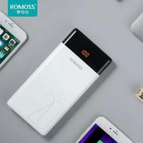 Romoss LT20 Power Bank 20000mAh Dual Output & 3 Input Port (Replika 1:1) - White - 7