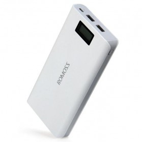 Romoss Sense 6 Plus Power Bank LCD 2 Port 20000mAh (ORIGINAL) - White