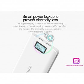 Romoss Sense 6 Plus Power Bank LCD 2 Port 20000mAh (ORIGINAL) - White - 2