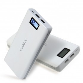 Romoss Sense 6 Plus Power Bank LCD 2 Port 20000mAh (ORIGINAL) - White - 4