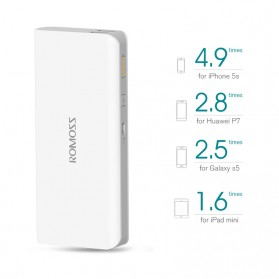 Romoss Sense 4 Power Bank 2 Port 10400mAh (ORIGINAL) - White - 2
