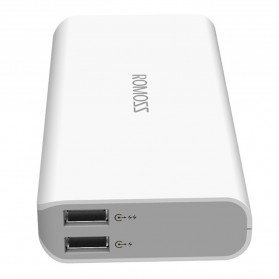 Romoss Sense 4 Power Bank 2 Port 10400mAh (ORIGINAL) - White - 9