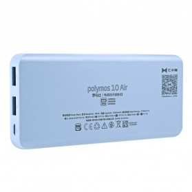 Romoss Polymos10 Air Power Bank 2 Port 10000mAh (ORIGINAL) - Blue - 2