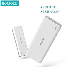 Romoss Sense 9 Power Bank 3 Port 25000mAh (ORIGINAL) - White - 2