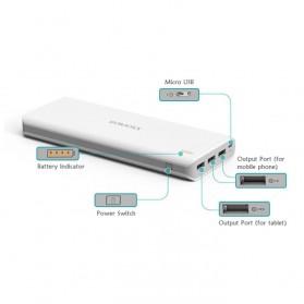 Romoss Sense 9 Power Bank 3 Port 25000mAh (ORIGINAL) - White - 3