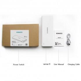 Romoss Sense 9 Power Bank 3 Port 25000mAh (ORIGINAL) - White - 9