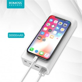 Romoss Sense 8 Power Bank USB Type C Lightning 3 Port 30000mAh (ORIGINAL) - White - 6