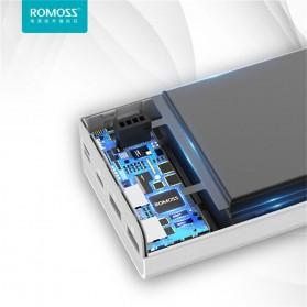 Romoss Sense 8 Power Bank USB Type C Lightning 3 Port 30000mAh (ORIGINAL) - White - 7
