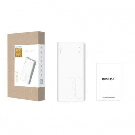 Romoss Sense 8 Power Bank USB Type C Lightning 3 Port 30000mAh (ORIGINAL) - White - 8