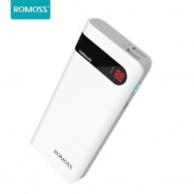 Romoss Sense 4P Power Bank LCD 2 Port 10400mAh (ORIGINAL) - White - 1