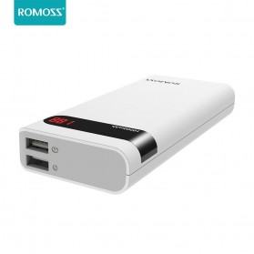 Romoss Sense 4P Power Bank LCD 2 Port 10400mAh (ORIGINAL) - White - 2
