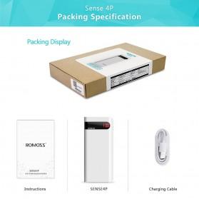 Romoss Sense 4P Power Bank LCD 2 Port 10400mAh (ORIGINAL) - White - 7