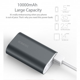 Romoss A10 Power Bank 2 Port Lightning Micro USB 10000mAh (ORIGINAL) - Gray - 3