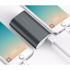 Romoss A10 Power Bank 2 Port Lightning Micro USB 10000mAh (ORIGINAL) - Gray - 6