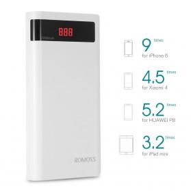 Romoss Sense 6P Power Bank LCD 2 Port 20000mAh (ORIGINAL) - White - 2
