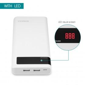 Romoss Sense 6P Power Bank LCD 2 Port 20000mAh (ORIGINAL) - White - 3