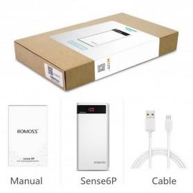Romoss Sense 6P Power Bank LCD 2 Port 20000mAh (ORIGINAL) - White - 6