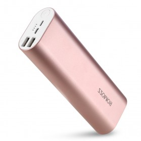 Romoss ACE20 Power Bank 2 Port Lightning Micro USB 20000mAh (ORIGINAL) - Rose Gold - 1
