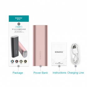 Romoss ACE20 Power Bank 2 Port Lightning Micro USB 20000mAh (ORIGINAL) - Rose Gold - 5