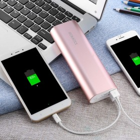 Romoss ACE20 Power Bank 2 Port Lightning Micro USB 20000mAh (ORIGINAL) - Rose Gold - 8