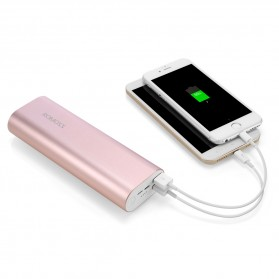 Romoss ACE20 Power Bank 2 Port Lightning Micro USB 20000mAh (ORIGINAL) - Rose Gold - 9