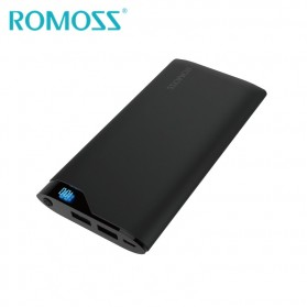Romoss Neon Series Power Bank LCD 2 Port 10000mAh (ORIGINAL) - NE10 - Black