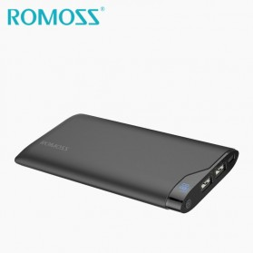 Romoss Neon Series Power Bank LCD 2 Port 10000mAh (ORIGINAL) - NE10 - Black - 3