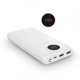 Romoss SW20 Pro Power Bank USB Type C + Lightning + Micro USB Input Port 20000mAh - White - 8