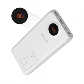 Romoss SW20 Pro Power Bank USB Type C + Lightning + Micro USB Input Port 20000mAh - White - 10