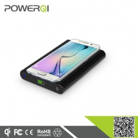 Powerqi T810 Wireless Charging Pad 1A with Power Bank 7000mAh - Black