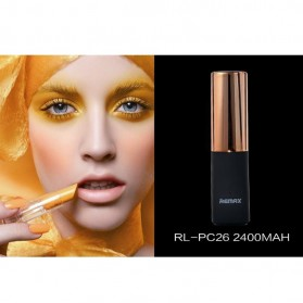Remax Lipmax Series Lipstick Power Bank 2400mAh - Golden